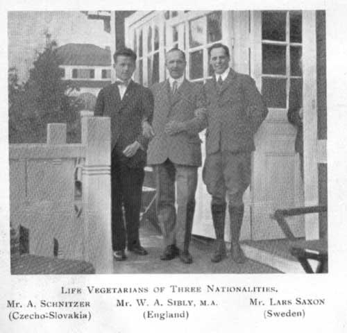 Členové mezinárodní vegetariánské unie, 1923
