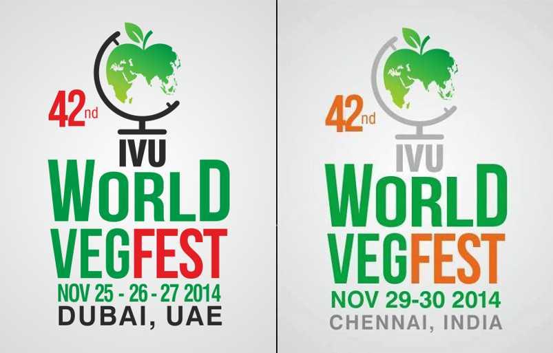 세계 채식 축제 로고 두바이